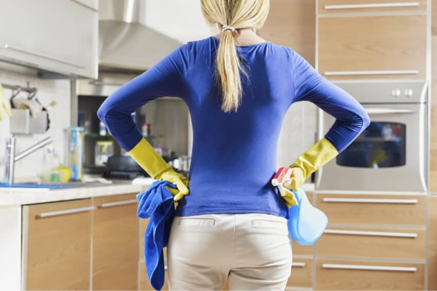 3 steg för rengöringen av hemmet efter en influensa