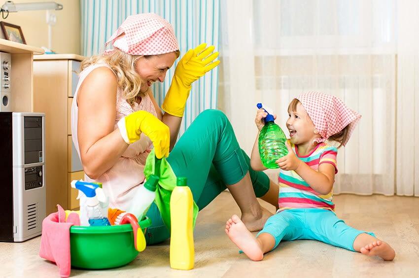 10 regler att förhålla sig till för att lära barn hushållssysslor