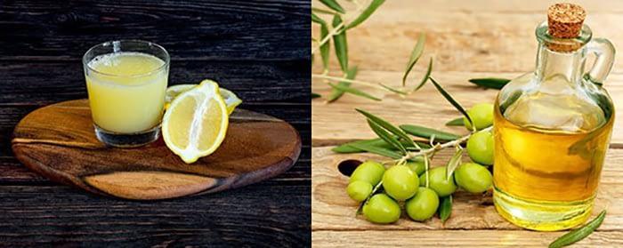 citron_och_olivolja_för_en_möbelpolish_till_hårda_träslag